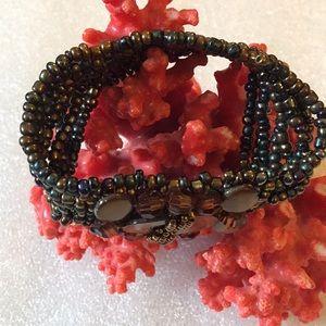 Vintage beads mop bracelet